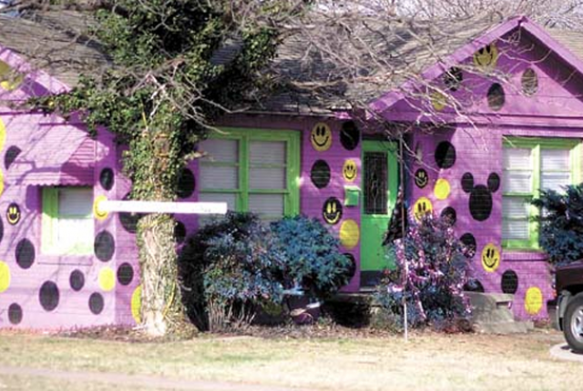 Houses Painted in Protest!